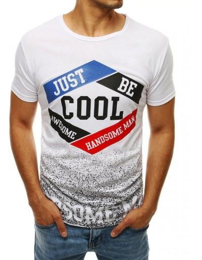 Bílé pánské tričko RX4279 s potiskem