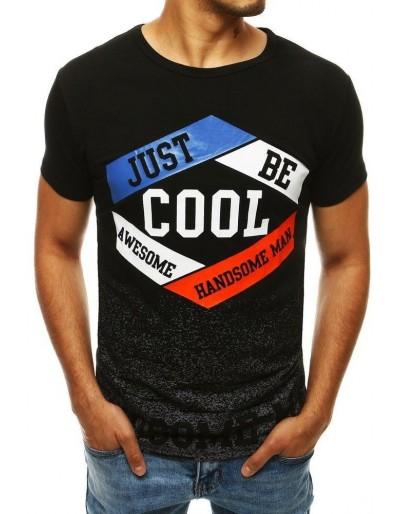 Černé pánské tričko RX4281 s potiskem