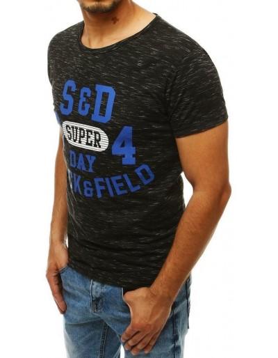 Černé pánské tričko RX4282 s potiskem
