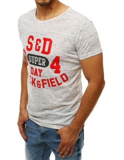 Světle šedé pánské tričko RX4283 s potiskem