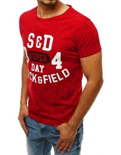 Červené pánské tričko RX4284 s potiskem