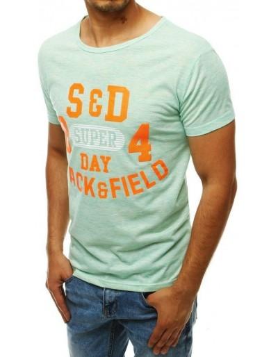 Zelené pánské tričko s potiskem RX4285