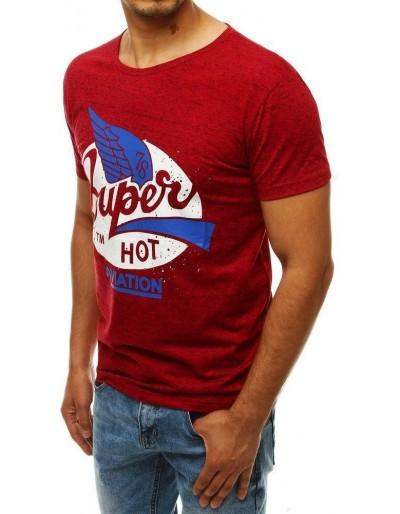 Červené pánské tričko RX4302 s potiskem