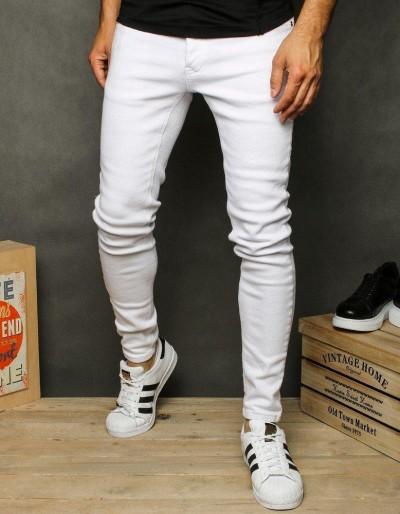 Pánské bílé džínové kalhoty UX2628