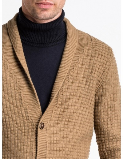 Men's sweater E164 - camel