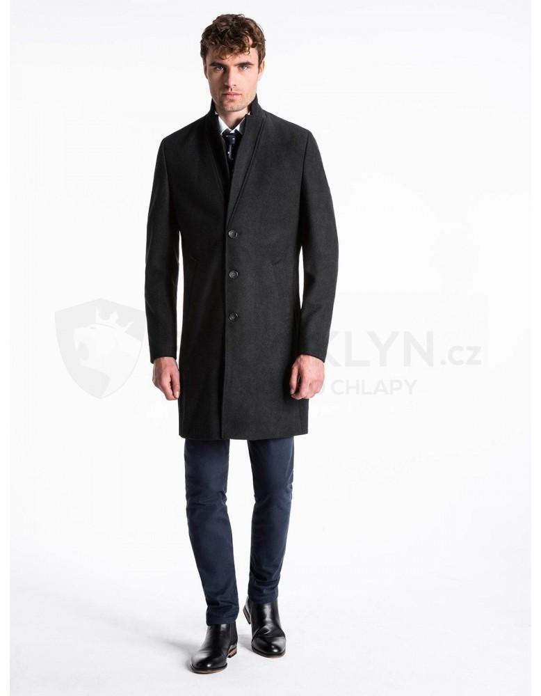 Pánský kabát C425 - černý