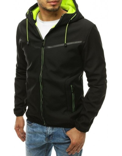 Černá pánská softshellová bunda s kapucí TX3326