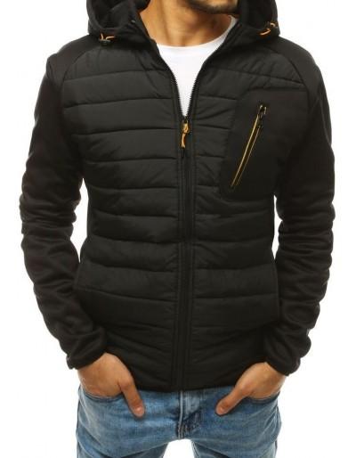Černá pánská prošívaná bunda s kapucí TX3329