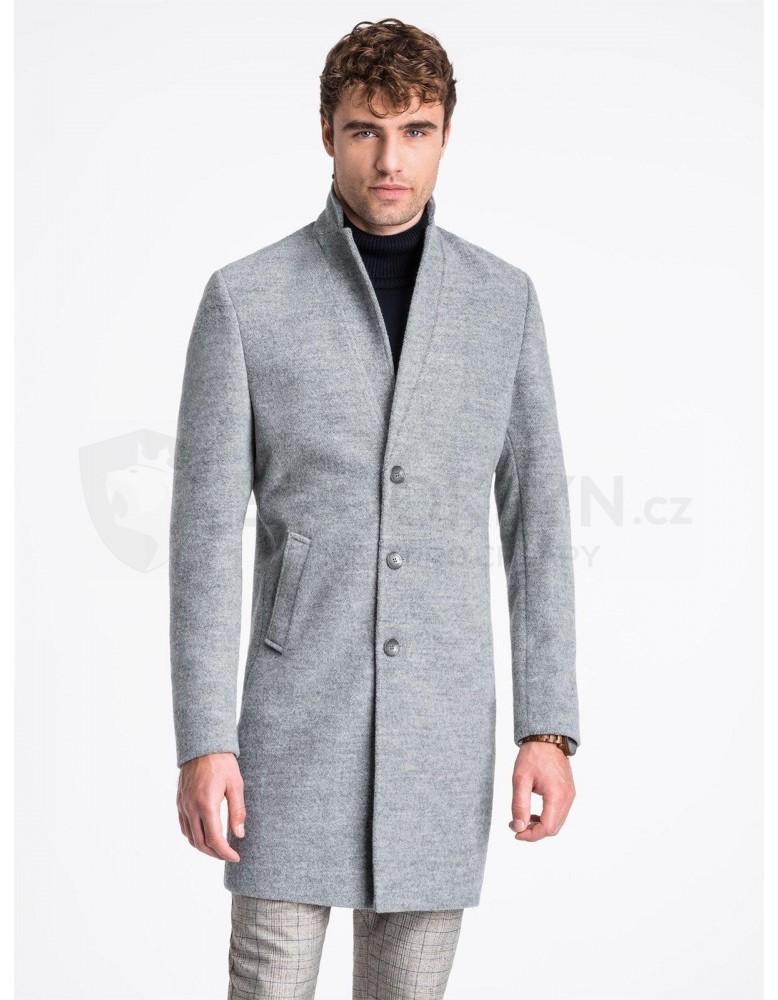 Pánský kabát C425 - šedý