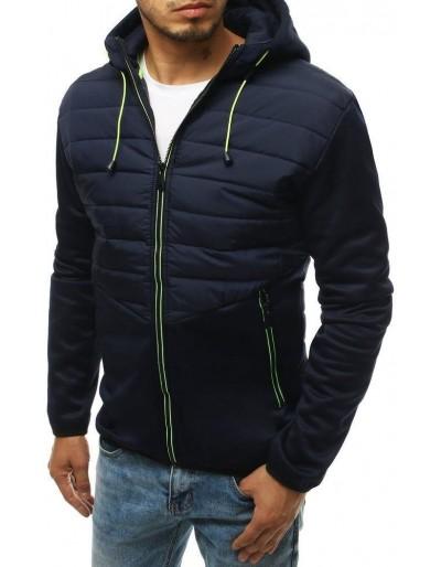 Námořnická modrá pánská prošívaná bunda s kapucí TX3336