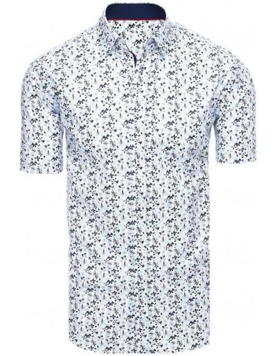 Bílé pánské tričko s krátkým rukávem KX0928