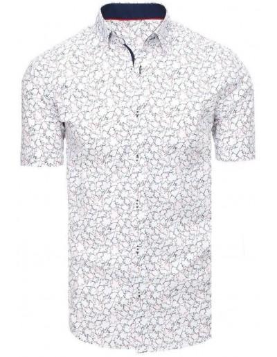 Bílé pánské tričko s krátkým rukávem KX0931