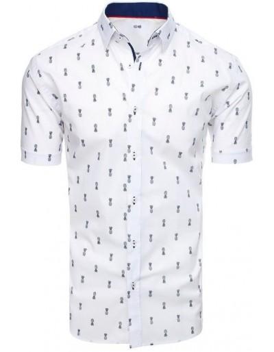 Bílé pánské tričko s krátkým rukávem KX0932