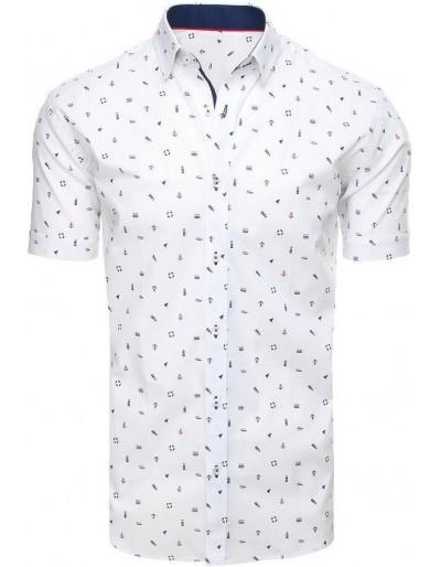 Bílé pánské tričko s krátkým rukávem KX0933