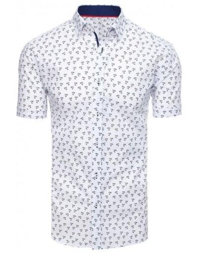 Bílé pánské tričko s krátkým rukávem KX0934