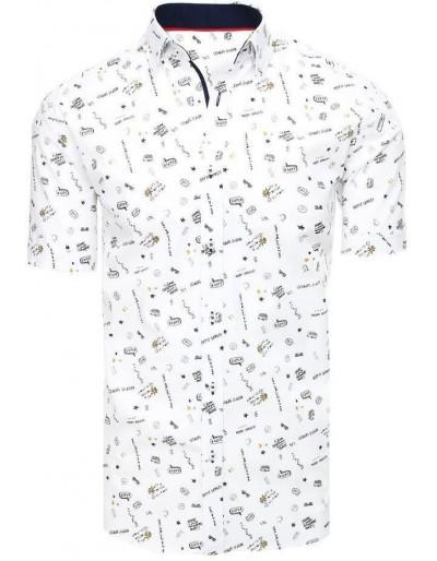 Bílé pánské tričko s krátkým rukávem KX0937