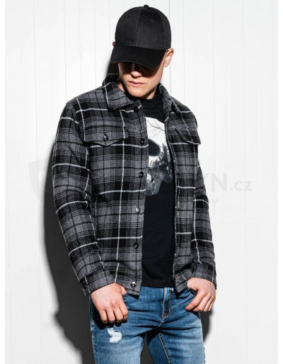 Pánská zimní bunda C428 - šedá