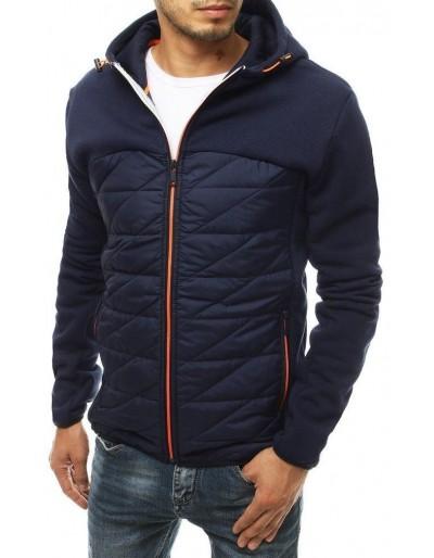 Námořnická modrá pánská prošívaná bunda s kapucí TX3351