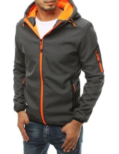 Pánská softshellová bunda s kapucí grafitová TX3356