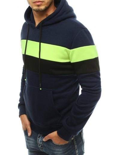 Bluza męska z kapturem granatowa BX4646