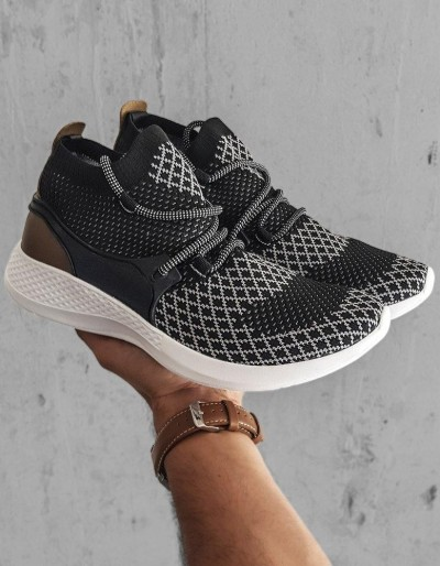 Černobílé pánské boty ZX0164