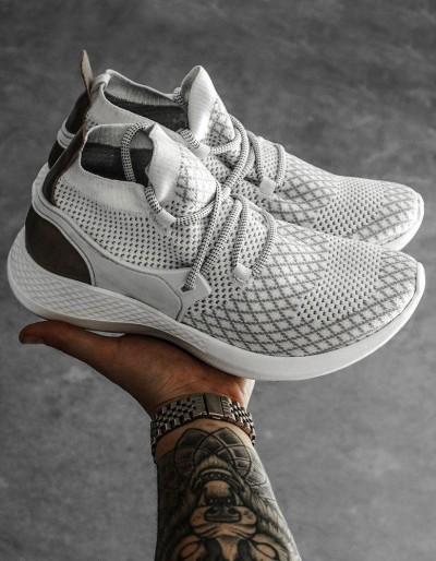 Bílé pánské boty ZX0165