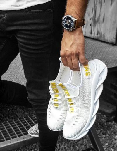 Bílé pánské boty ZX0169