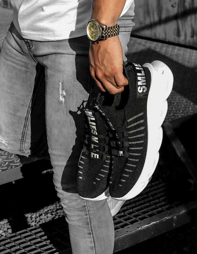 Černobílé pánské boty ZX0170