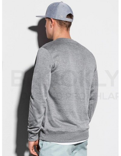 Men's plain sweatshirt B978 - grey melange