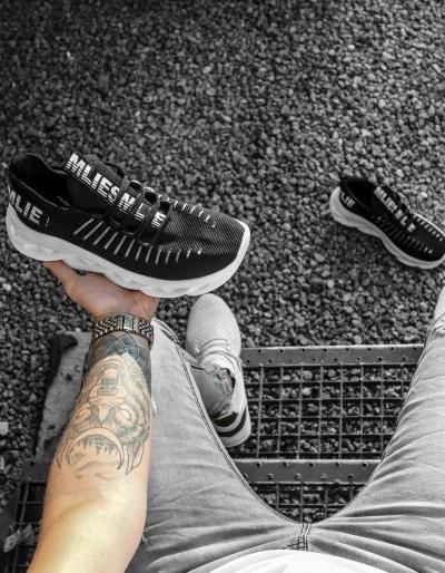 Buty męskie czarno-białe ZX0170