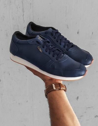 Tmavě modré pánské boty ZX0173