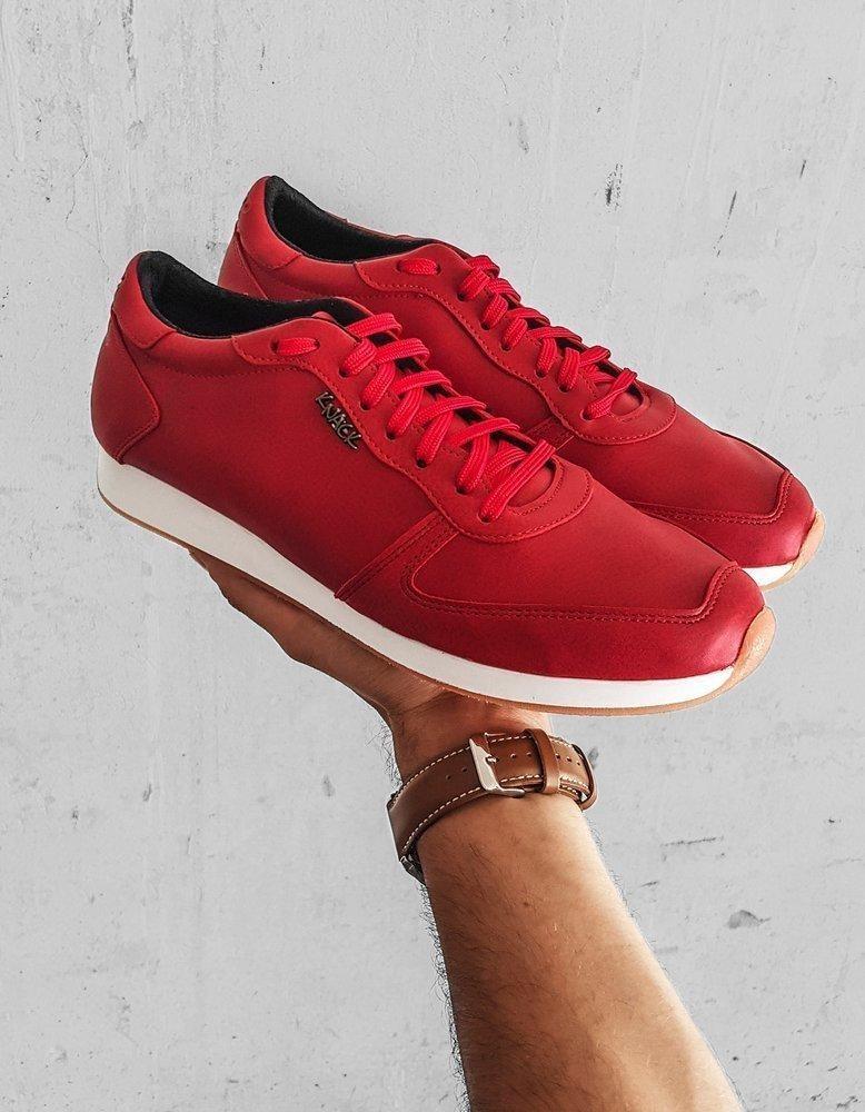 Červené pánské boty ZX0174