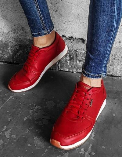Buty męskie czerwone ZX0174
