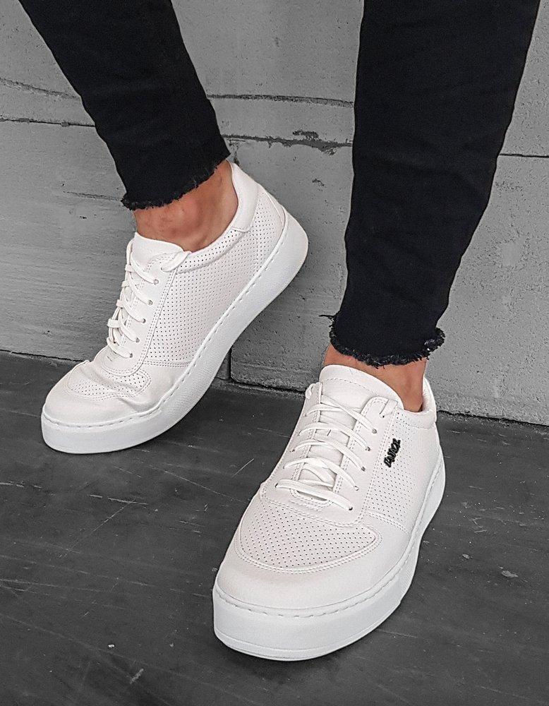 Bílé pánské boty ZX0176