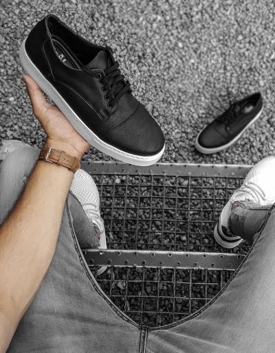 Černé pánské boty ZX0177