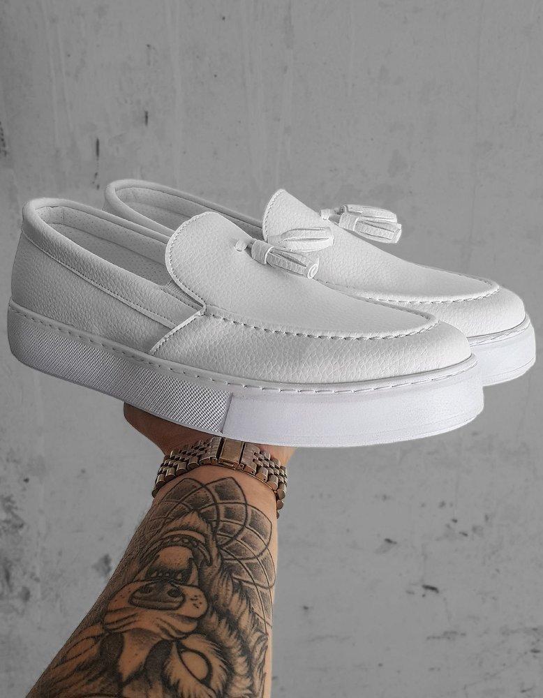 Bílé pánské boty ZX0178