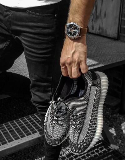 Světle šedé pánské boty ZX0180