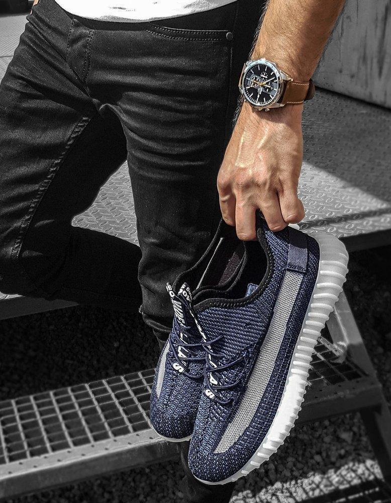 Tmavě modré pánské boty ZX0184