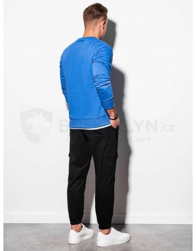 Men's plain sweatshirt B978 - blue