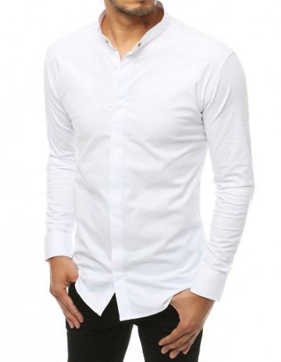 Pánská košile s dlouhým rukávem, bílá DX1897
