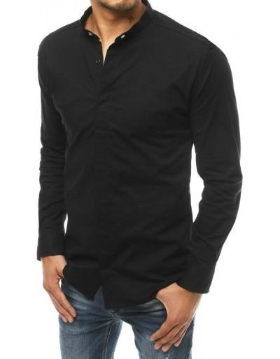 Pánská košile s dlouhým rukávem černá DX1898