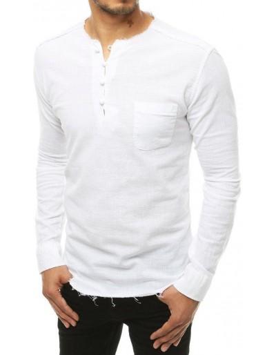 Bílé pánské tričko DX1902