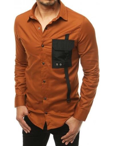 Pánské velbloudí tričko s dlouhým rukávem DX1921