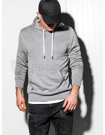 Men's hooded sweatshirt B979 - grey melange
