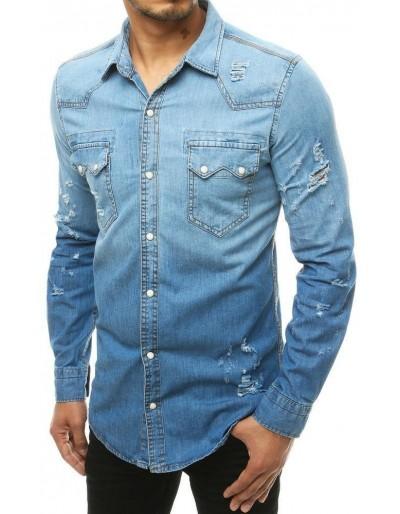 Pánská riflová košile modrá DX1928