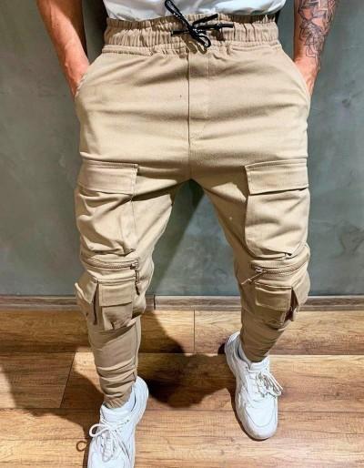 Pánské béžové běžecké kalhoty UX2641