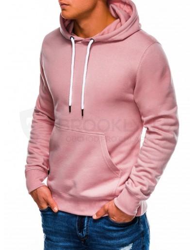 Men's hooded sweatshirt B979 - powder pink