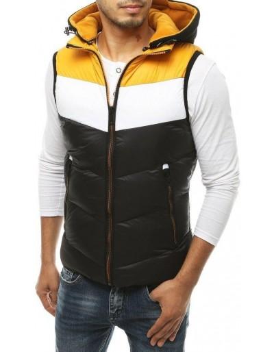 Pánská prošívaná vesta s kapucí černá TX3369
