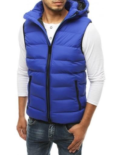 Pánská prošívaná vesta s kapucí TX3370 modrá
