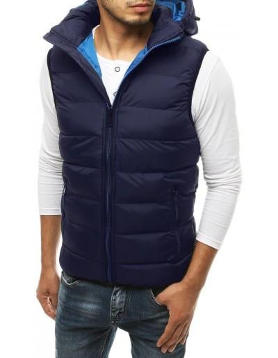 Pánská prošívaná vesta s kapucí Navy Blue TX3375